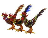 Milano Art Glass Animals-4 Roosters-MA-132