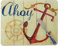 Cheese Board - Ahoy withSpreader - 10x8 Inches - TBD-PB-002