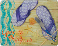 Cheese Board - Gone to the Beach withSpreader - 10x8 Inches - TBD PB-003