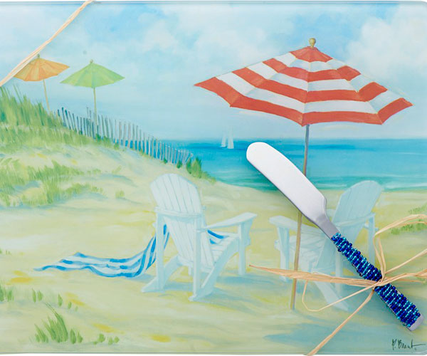Cheese Board - Perfect Beach withSpreader - 10x8 Inches - TBD PB-004
