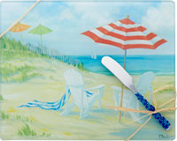 Cheese Board - Perfect Beach withSpreader - 10x8 Inches - TBD-PB-004