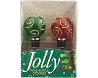 Bottle Stopper Ornaments S/2 PVC-WAX-014
