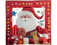 Christmas Platter - Santa - 8.5 Inch Square-WAX-023