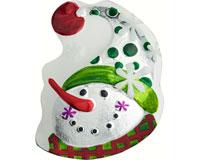 Christmas Platter - Snowman - 8.5x10 Inches WAX-024