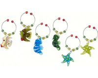 Wine Charms - Sea Life - S/6 WB-024