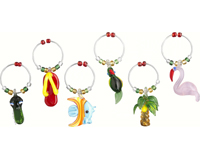 Wine Charms - Tropics - S/6-WB-046