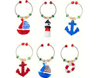 Wine Charms - Nautical - S/6 WB-063