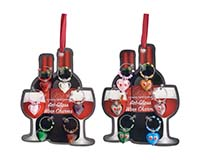 Wine Charms - Hearts - Carded-WB-071