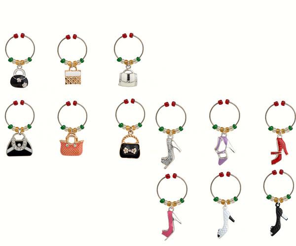 Wine Charms - Shoes & Handbags (Enamel) - Carded WB-076'