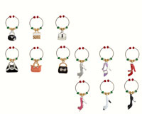 Wine Charms - Shoes & Handbags (Enamel) - Carded-WB-076