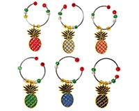 Wine Charms - Pineapples S/6 WB-79