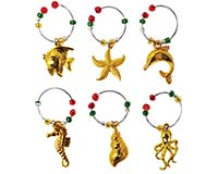 Wine Charms - Golden Sea Life WB-80