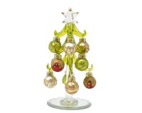Tree- Green with Multi-Gold Ornaments - 6 Inch - PVC Box-XM-1009