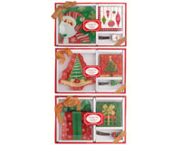 OUT FOR THE SEASON Christmas Hostess Set - with Glass Plate XM-1015