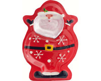 Platter - Santa - 2 sections - 12.5 in x 8 in-XM-1016