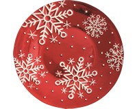 Platter - Red Snowflakes - 12 inRound XM-1020