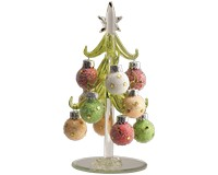 Tree -Green with Star Glitter Ornaments - 6 Inch GB XM-1027