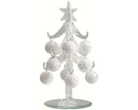 Tree - White with White Ornaments - 6 Inch XM-1028