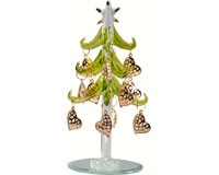 Tree - Green with Gold Heart Ornaments - 6 Inch XM-1029