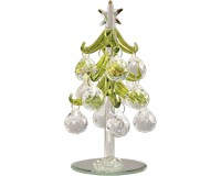 Tree- Green with Crystal Round Ornaments - 6 Inch GB-XM-1030