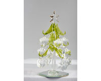 Tree - Green with Crystal Snowflake Ornaments - 6 Inch GB XM-1031