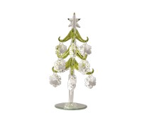 Tree - Green with Crystal Snowflake Ornaments - 8 Inch GB XM-1032