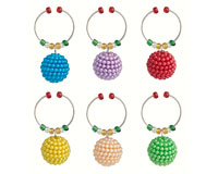 Wine Charms - Bling - S/6 XM-1037