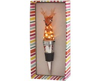 Reindeer Light-Up Glass Stoppers-XM-1043
