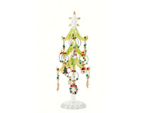 Tree - Green - 8 Inch with 12 Enamel Holiday Wine Charms GB XM-1059