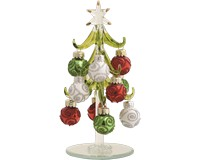 Tree - Green - 6 Inch with Red, Green, White Ornaments in Gift Box XM-1061