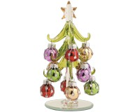 Tree - Green - 6 Inch with Bright Ornaments GB XM-1062