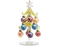 Tree - Green - 6 Inch -  with Multi Color Ornaments GB XM-1070