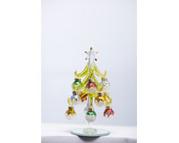 Tree - Green - 6 Inch -  with Frosted Ornaments XM-1072