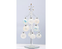 Tree - Clear - 8 Inch -  with Mosaic Ornaments-XM-1073