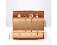 Christmas Enamel Forks S/4 - GB XM-1078