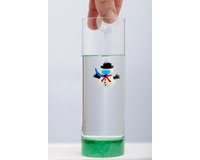Christmas Floating Scuba Snowman in Vase XM-1093