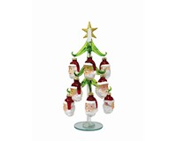 Tree - Green - with 12 Santa Ornaments 10 inch - GB XM-1118