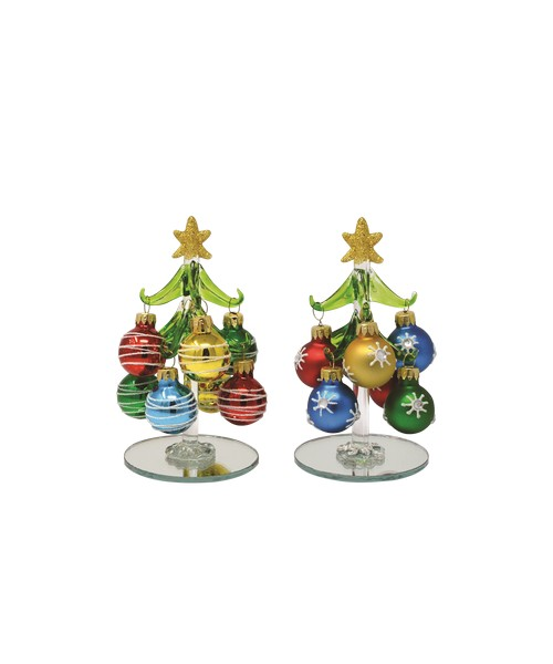 Tree - Green 8 ornaments PVC XM-1123'