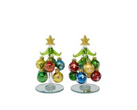 Tree - Green with 8 Ornaments - 5.5 inch PVC XM-1124