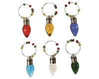 Wine Charms - Light Up Bulbs - S/6 XM-1132