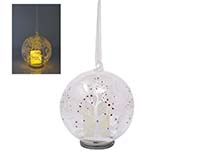 Christmas LED Candle in Globe - Winter Scene XM-1140
