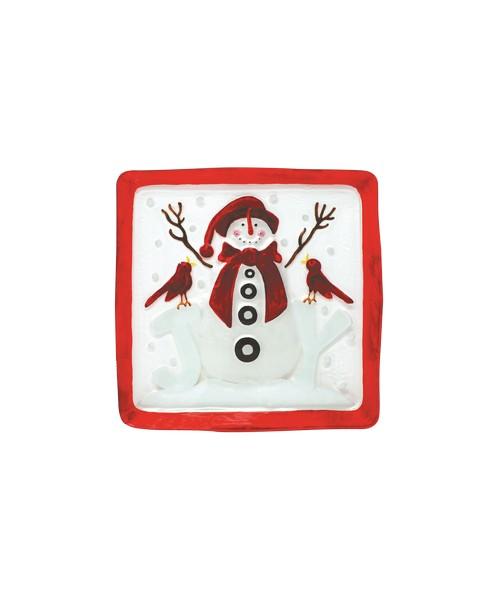 Platter - Snowman Joy - 11.5 inch Square