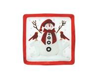 Platter - Snowman Joy - 11.5 inch Square-XM-1143