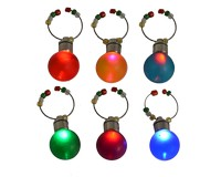 Wine Charms - Globe Light Up S/6-XM-1168