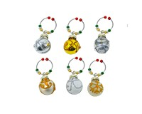 Wine Charms Gold & Silver S/6 XM-1169