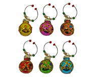 Wine Charms - Red/Green/Gold S/6 XM-1170