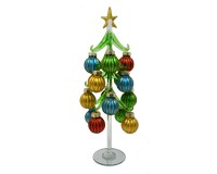 Green Tree Vintage Globes 12 inch with 16 Ornaments GB XM-1189