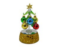 Tree - Light Up 6 inch with 8 Ornaments GB XM-1192