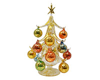 Oro multicolor 25cm Glass Tree with16+1 Ornaments GB-XM-2001
