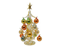 Oro multicolor 30cm Glass Tree with16+1 Ornaments GB-XM-2002